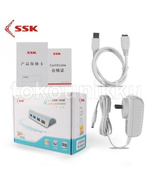 USB HUB 3.0 SSK 4P SHU800 (High Speed)
