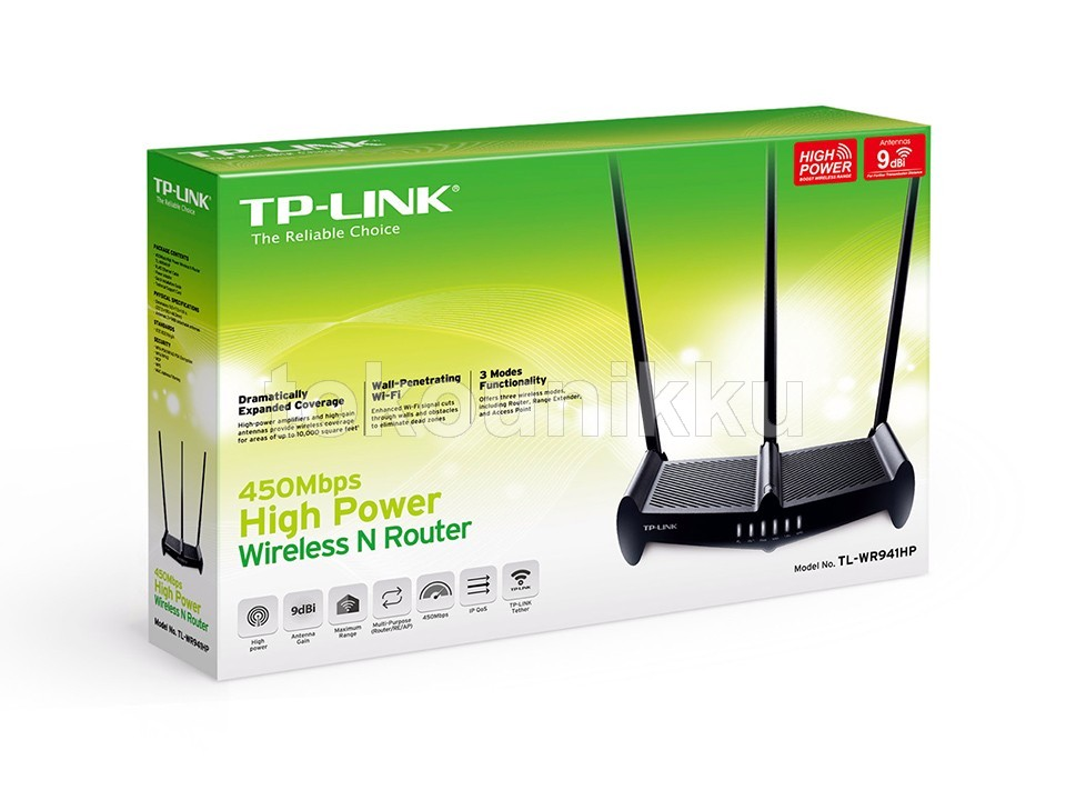 TP-Link TPLINK 450Mbps High Power Wireless N Router TL-WR941HP