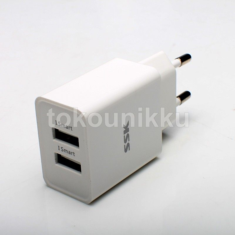 Wall Charger USB SSK (2 port) 2,4A type SSK SDC-010