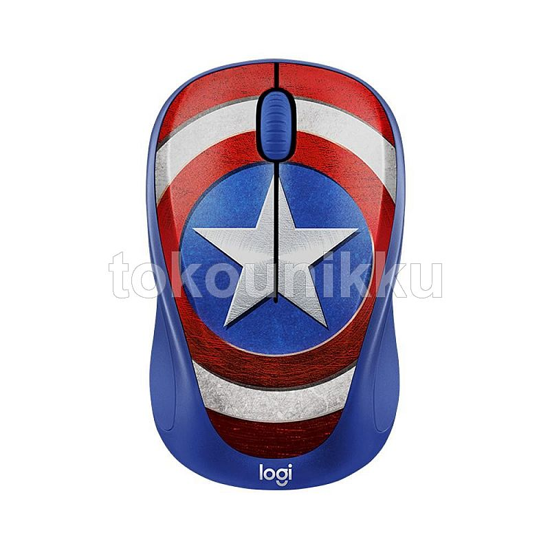 LOGITECH Mouse M238 Marvel Collection Wireless Mouse Captain America