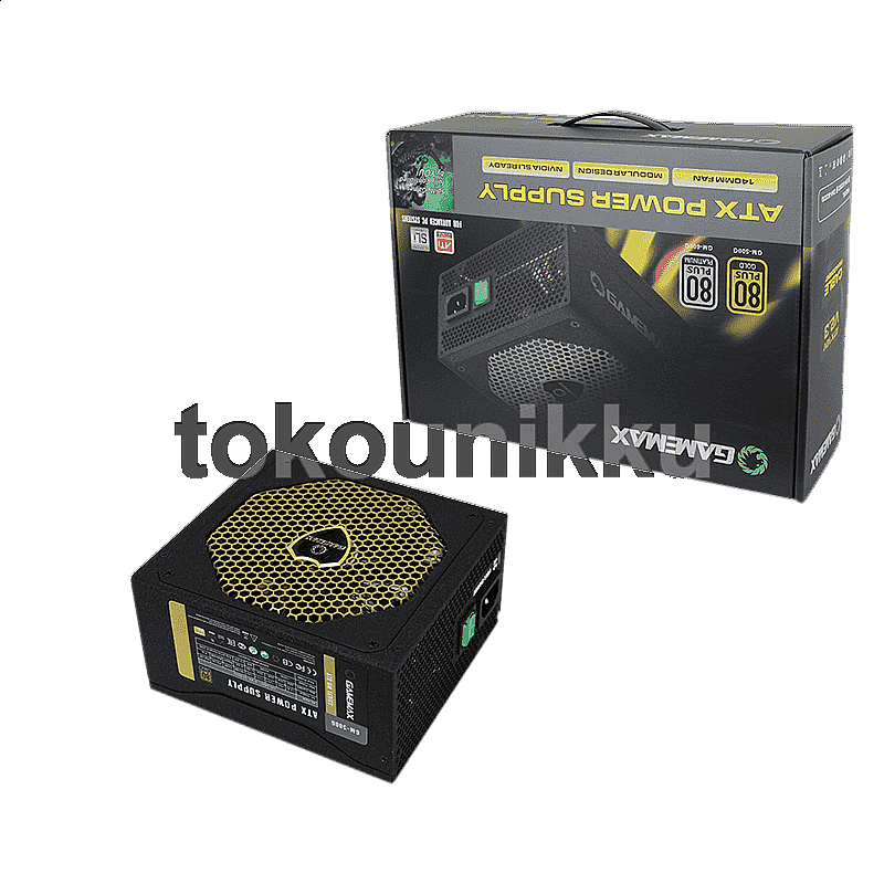 Gamemax Power Supply GM 500G - 500W, 80+, Gold