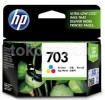 HP 703 Color Ink Cartridge Tinta (ORIGINAL)